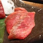 肉汁餃子のダンダダン - 馬刺し2種盛り980円からトロ
