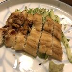 末廣鮨 - 煮穴子。軽く炙って供されます