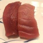 末廣鮨 - 赤身と中トロ