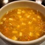 122419033 - 濃厚上海ガニ味噌スープ 1,100円(一人前)×3
