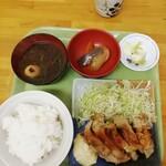 めし処銭屋 - 鶏南蛮定食·550円。私のKING·OF·定食屋の中でも、一番お気に入りのメニューです。