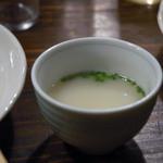 かわ屋 - 〆の鶏ガラスープ