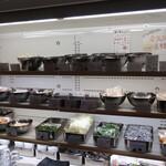 グータン - トッピングの冷蔵ショーケース