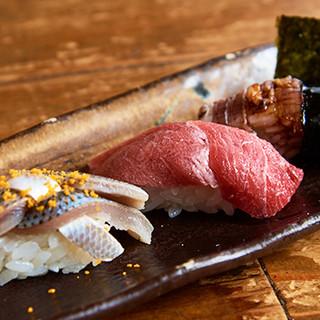 専門店にも負けない、最高のネタを使った寿司♪