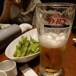 122447471 - 枝豆と極度乾燥ビール