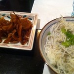 日本酒バー オール・ザット・ジャズ - じゃこ飯 & 生姜のお新香