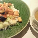 謝朋殿 - 白身魚 野菜との酸辣湯味ご飯