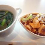 Des Anges - 麻婆豆腐とスープです