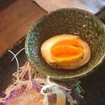 串かつ ゑびす - 燻製玉子