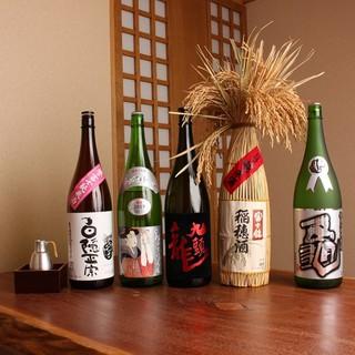 料理に合わせて、月ごとに替わる日本酒の数々