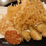 蕎麦 の澤 - 小海老と野菜天盛合せ 1,120円