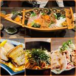 黄金の角煮と奄美焼酎90種 奄んちゅ - 船盛りコース