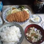 美濃 - ロースカツ定食1000円