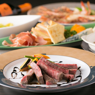 【季節のコース料理】取り分けではなく、銘々にお料理をご提供。