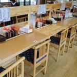 かつれつ食堂 - 中央カウンター席