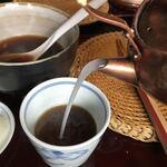 えびな 上野藪そば - 蕎麦湯
