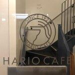 HARIO CAFE - 入口。カフェは2階に。