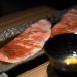 新宿 焼肉ブルズ - 炙りサーロイン