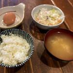 とん彩や - プレーン定食+小鉢麻婆豆腐