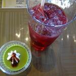 八ヶ倉 - 山ぶどうジュースと抹茶プリン