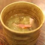麻布 幸村 - ベーコンの和風コンソメスープ