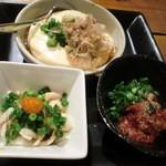 12252916 - チンジャ、皮の湯引き、豆腐