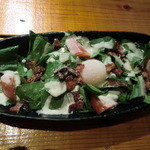 12252918 - 生ホウレン草と温泉卵のシーザーサラダ