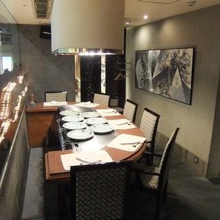 半個室の落ち着きあるプライベート空間。接待、会食にどうぞ。