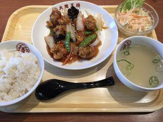 大阪王将 大蔵谷IC店 - 酢豚定食(餃子付き)