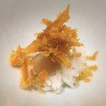 鮨 坂本 - ⒋小柱、三重県産からすみ載せ