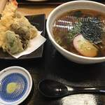蕎麦居酒屋 まち庵 - 天ぷらそば