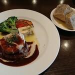 高円寺イタリア食堂 BUNGO - 自家製ハンバーグのランチです