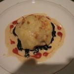ふくろふ森 - 魚介のチーズクレープ包み焼き