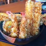 お食事処 はくさい - 料理写真:激盛 穴子天丼(1630円税込)