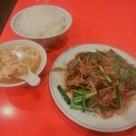 上海菜館 - レバニラ定食(\850)