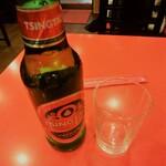 上海菜館 - 青島ビール(\420)
