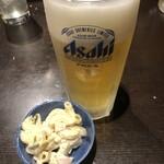 鳥天 - 最初は生ビールで。