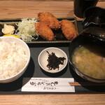 ときしらず - 牡蠣フライ定食1,000円
