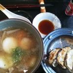 阿蘇山の幸 よろこび - だご汁と餃子のセット(700円)