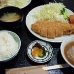 とんかつ料理 さち - 幻下ポーク ロースカツ定食 レギュラー(120g) 1580円