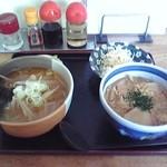 ゆたか屋ラーメン - 料理写真:セットメニュー(玉子丼)