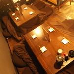 クラッシュビーン - 小上がり座敷席2~6名席×2席(最大12名様) 冬はコタツ席に!!