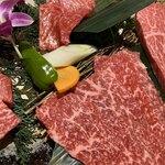 焼肉本舗 ぴゅあ - 和牛赤の極み4種盛り:4,980円