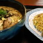 麺 徳次郎 - 半炒飯セット