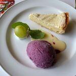 レストラン楓 - 牛肉煮込みセットのデザートはちょっとだけ違う。レストラン楓(かえで,豊田市足助町)食彩品館.jp撮影