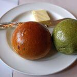 レストラン楓 - セットのパン。レストラン楓(かえで,豊田市足助町)食彩品館.jp撮影