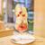 ビヤンネートル - 料理写真:シーズナルパフェ「洋梨/ローズ」(1420円)