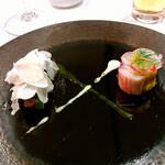 Parinoasaichi - ズワイガニのシャルロットとフレッシュシャンピニオンのサラダ