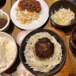 ミートランド~肉嵐土~ - ハンバーグ定食+蟹クリームコロッケ