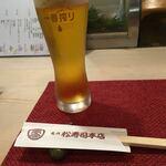 松寿司 - 生ビール